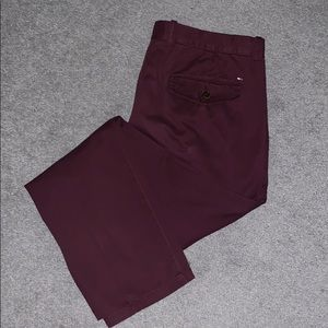 Tommy Hilfiger Maroon Chinos 36x32